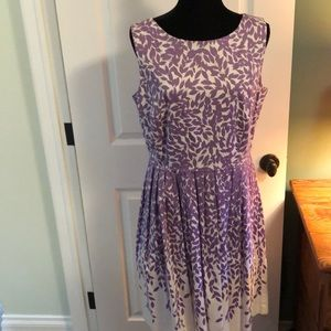 Talbots sleeveless fit and flare dress